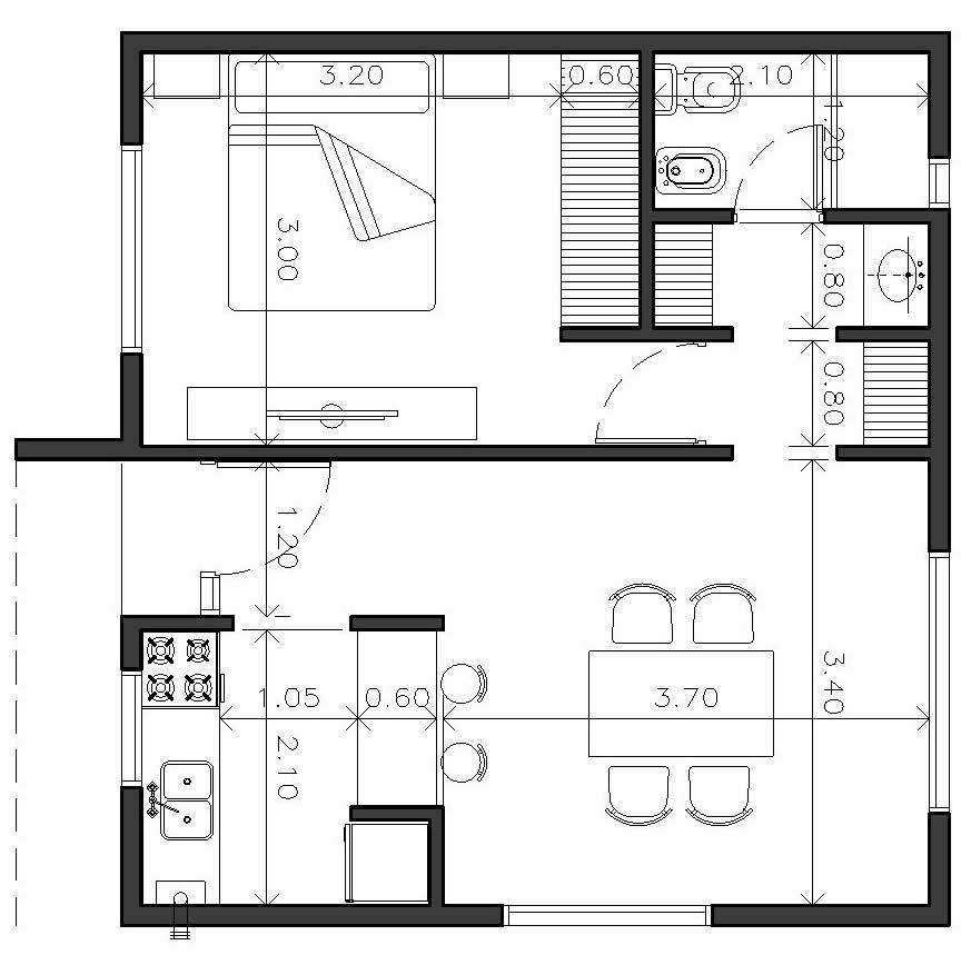Plano Un Dormitorio